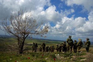 The Golani brigade training at the Golan Heights. Photo: Israel Defense Forces