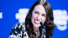 "Jacinda Ardern, Prime Minister of New Zealand; Young Global Leader speaking during the Session ""Safeguarding Our Planet"" at the Annual Meeting 2019 of the World Economic Forum in Davos, January 22, 2019. Congress Centre, Congress Hall Copyright by World Economic Forum / Boris Baldinger"