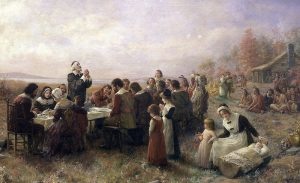 """The First Thanksgiving at Plymouth"" (1914) By Jennie A. Brownscomb Photo credit: Stedelijk Museum De Lakenhal"