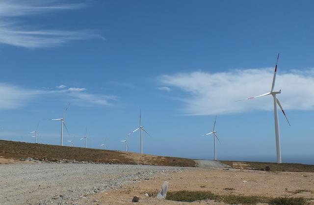 Windmill park. El Arrayan (Chile). Photo credit: Alfabille