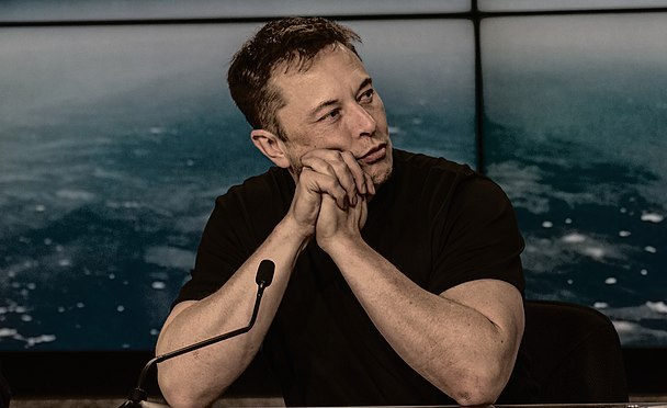 Elon Musk at the SpaceX Falcon Heavy Flight 1 post launch press conference. Photo credit: Daniel Oberhaus