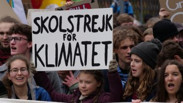 Greta Thunberg at the 29 March 2019 FridaysForFuture Demonstration in Berlin (Germany). Photo credit: Leonhard Lenz